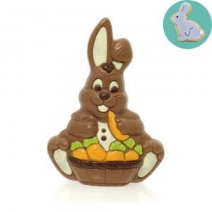Easter edible gift ideas friars blog milk chocolate easter bunny with carrot basket p1368 negle Gallery