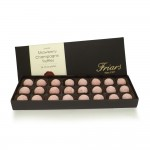 Pink Champagne and Strawberry Truffles
