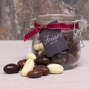 Assorted Chocolate Brazil Nuts Gift Jar