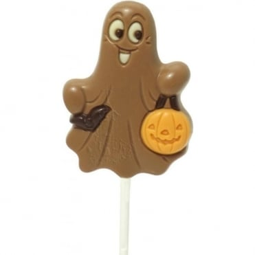 Milk Chocolate Ghost Lolly