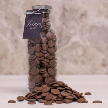 Bottle of Cappuccino Flavoured Chocolate Buttons