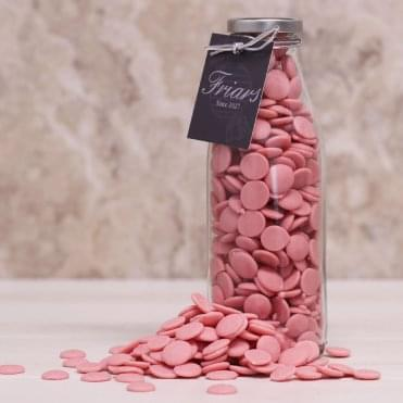 Bottle of Strawberry Flavoured Chocolate Buttons