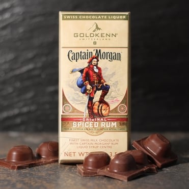 Captain Morgan Spiced Rum Liqueur Chocolate Bar