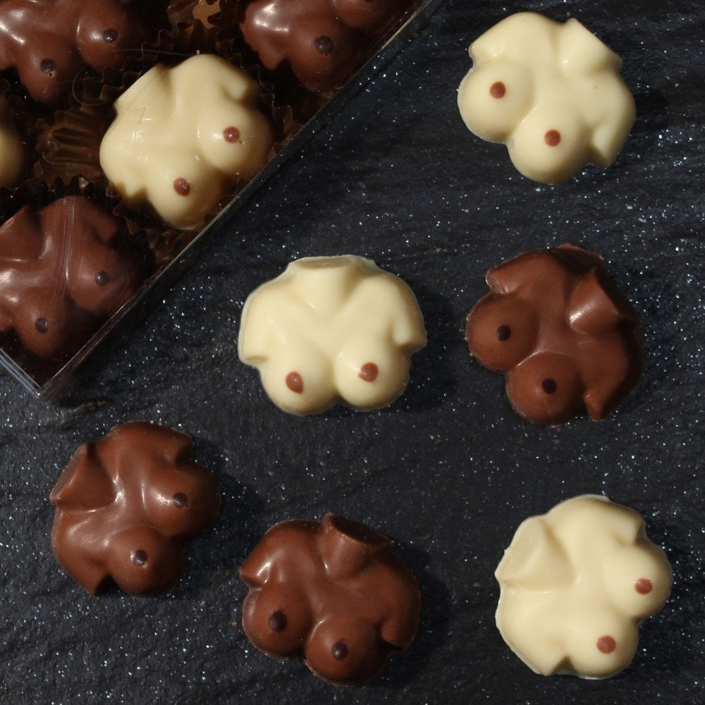 Breasts in chocolate