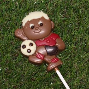 Chocolate Footballer Lolly