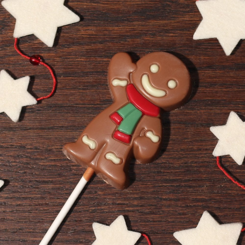 Chocolate Gingerbread Man Lolly