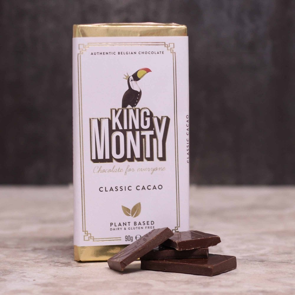 King Monty Classic Cacao Vegan Chocolate Bar