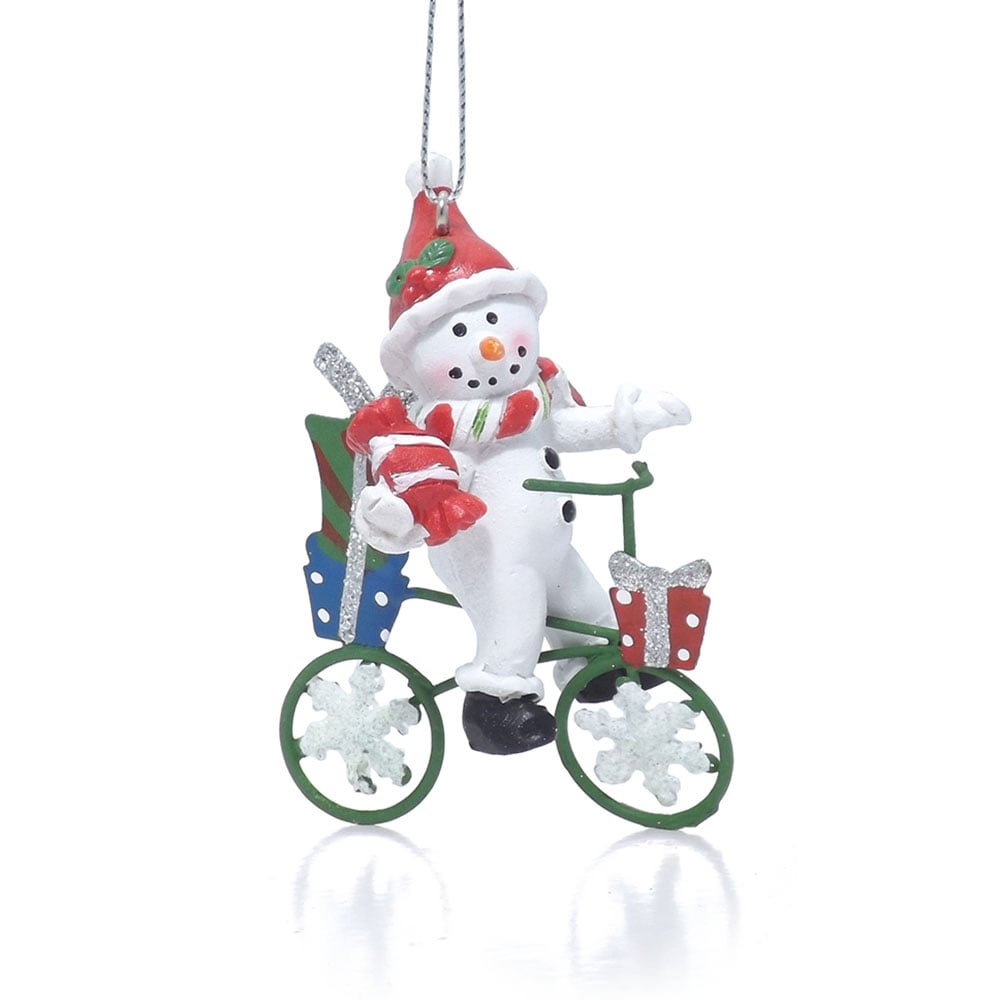 Buy cycling snowman tree decoration for 70 bike decoration