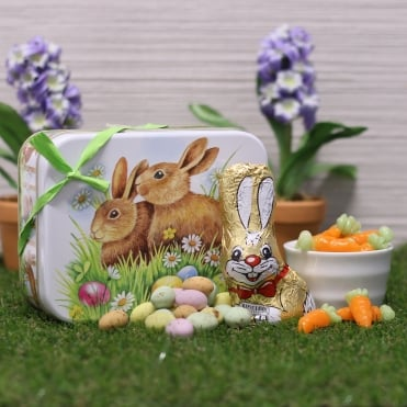 Easter Bunny Chocolate Gift Tin