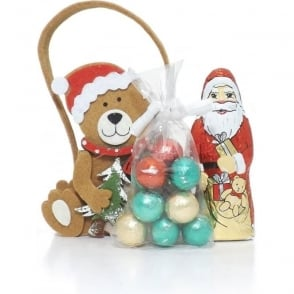 Felt Christmas Bear Gift Bag