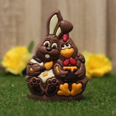 Chocolate Easter Bunny and Chick