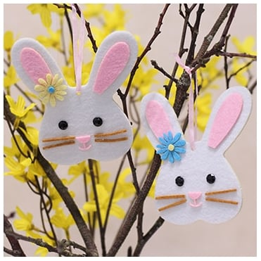 Easter Bunny Decoration - 2 Pack