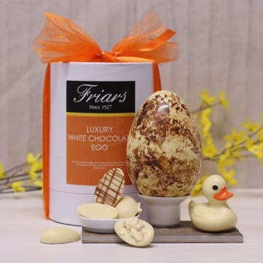 Luxury White Chocolate Easter Egg