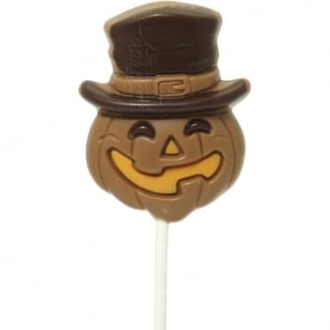 Milk Chocolate Pumpkin Lolly