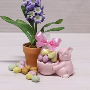 Pink Bunny Egg Cup