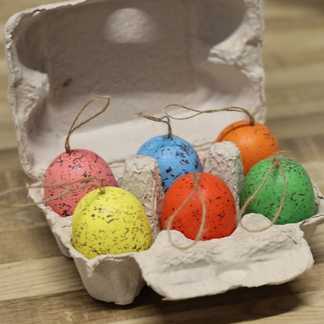 Speckled Easter Egg Decorations