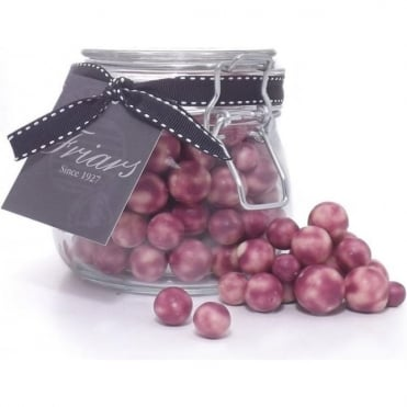 White Chocolate Coated Blackcurrants Jar