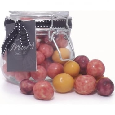 White Chocolate Coated Cherries Jar