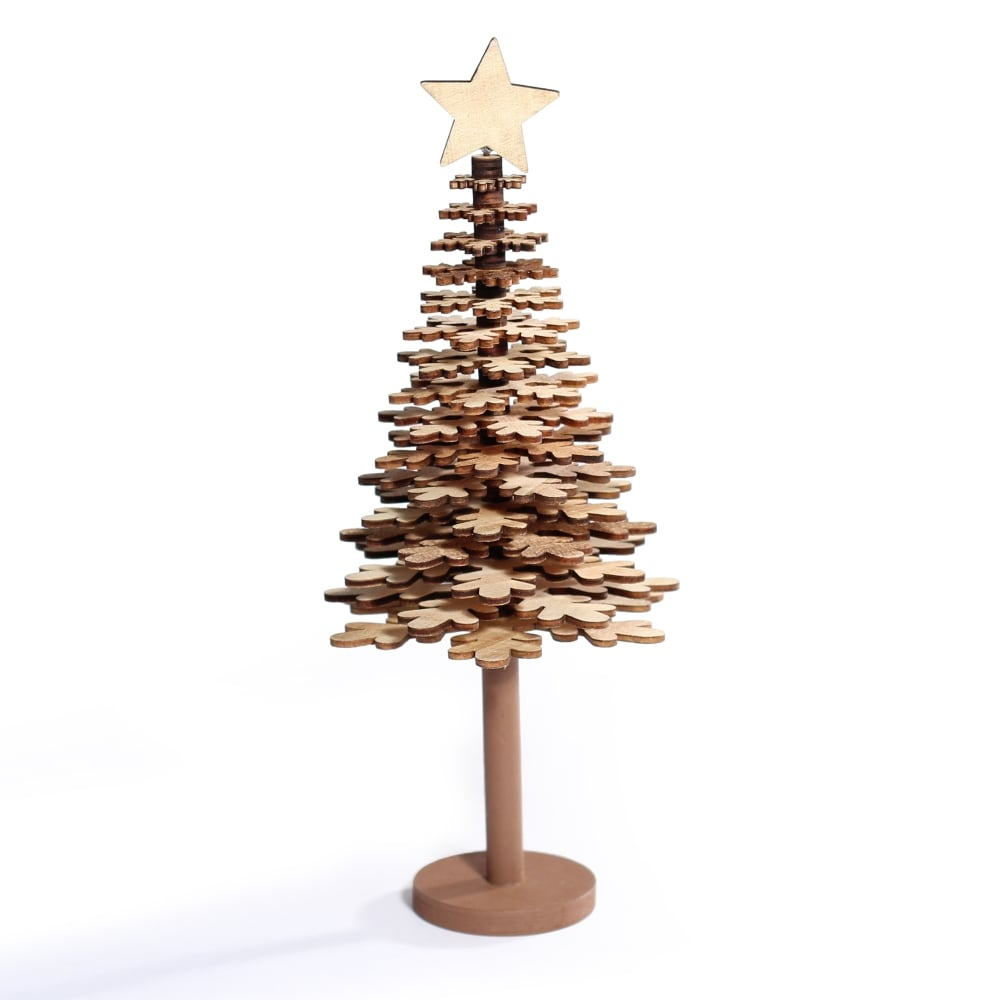 Wood Christmas Decorations.Wooden Christmas Tree
