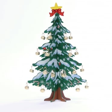 Wooden Christmas Tree With Bells