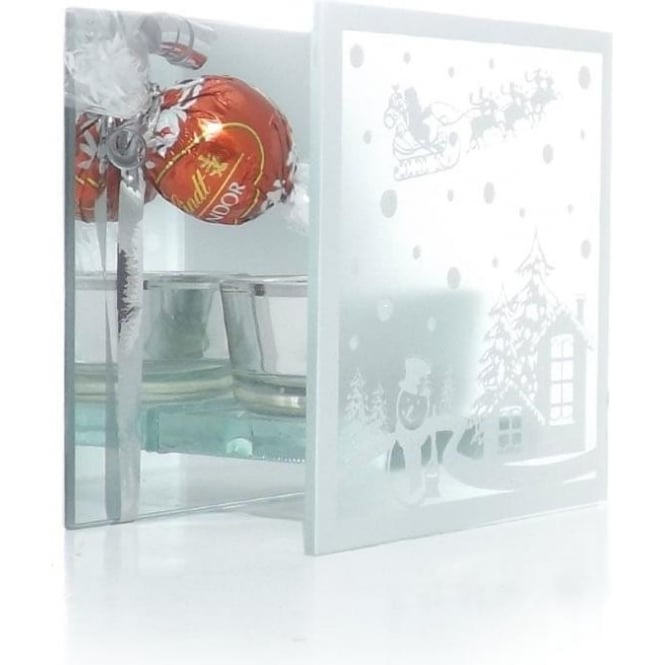 Frosted Winter Scene T-light Holder