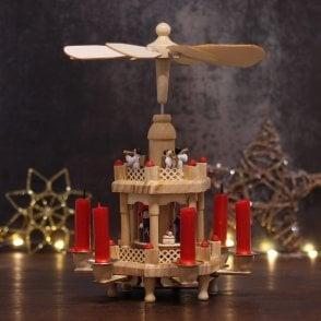 german christmas pyramid 2 tier - German Christmas Pyramid Kit