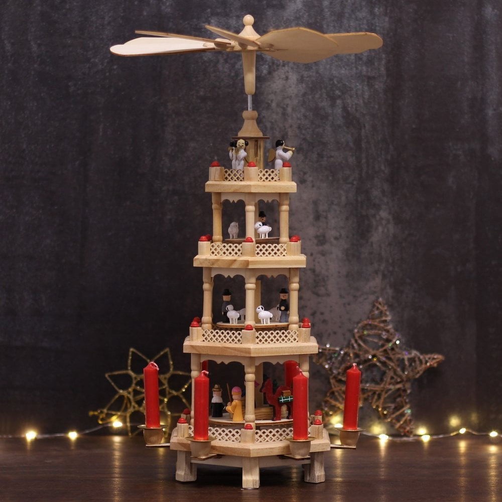 Christmas Pyramid.German Christmas Pyramid 4 Tier
