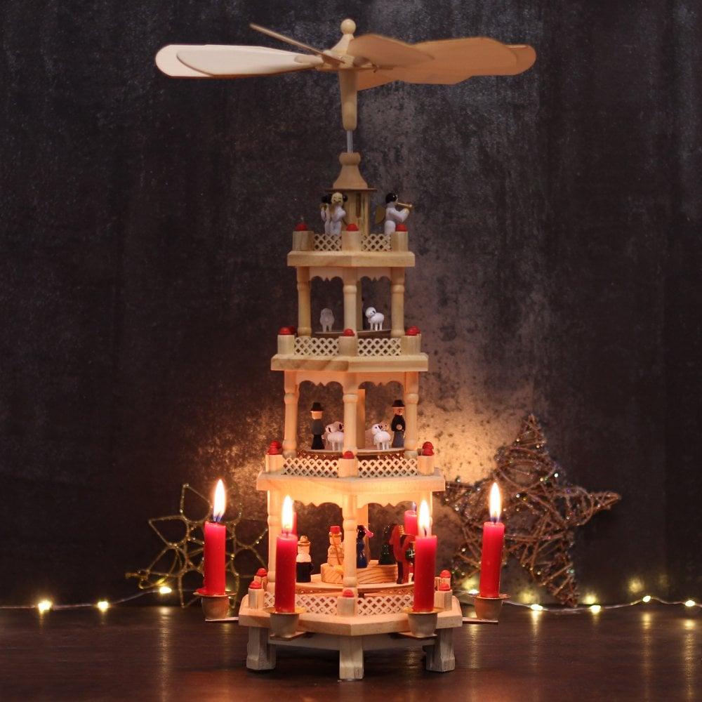 german christmas pyramid 4 tier - German Christmas Pyramid Kit