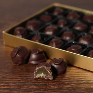 Hand Made Dark Chocolate Covered Ginger - 24 Chocolates