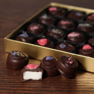 Hand Made Dark Chocolate Floral Creams - 24 Chocolates
