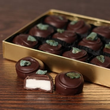 Hand Made Dark Chocolate Mint Creams - 15 Chocolates
