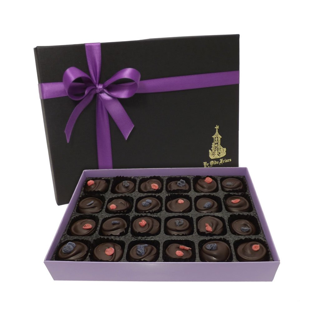 Chocolate Gift Boxes Packaging Uk : Buy hand made dark chocolate rose and violet cream gift