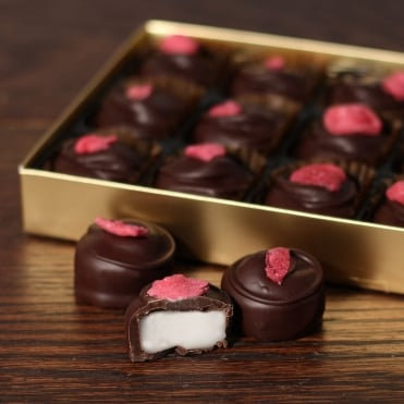 Hand Made Dark Chocolate Rose Creams - 15 Chocolates