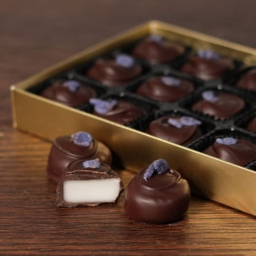 Hand Made Dark Chocolate Violet Creams - 15 Chocolates