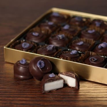Hand Made Dark Chocolate Violet Creams - 24 Chocolates