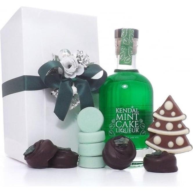 Kendal Mint Cake Liqueur Christmas Gift Box