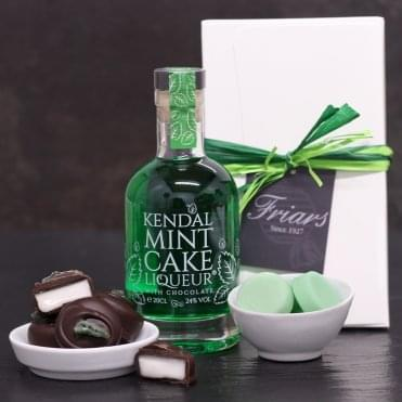 Kendal Mint Cake Liqueur Hamper Box