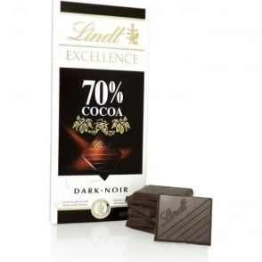 Lindt Excellence 70% Cocoa Chocolate Bar