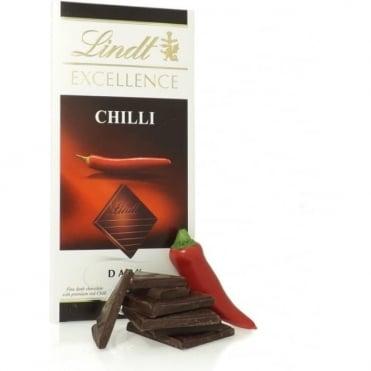 Lindt Excellence Dark Chocolate Chilli Bar