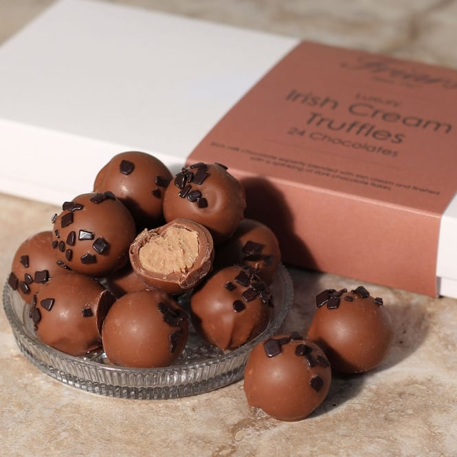 Luxury Irish Cream Truffles - 24 Chocolates