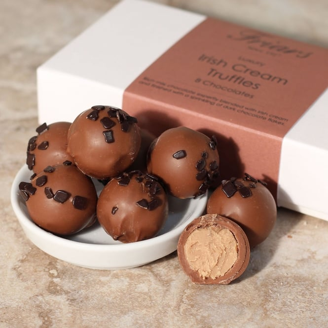 Luxury Irish Cream Truffles - 8 Chocolates
