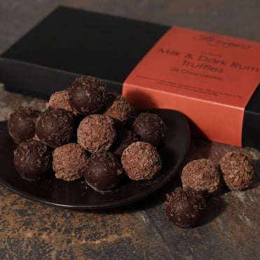 Luxury Milk & Dark Rum Truffles - 24 Chocolates