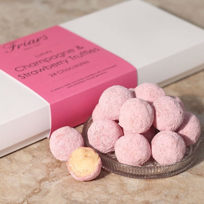 Luxury Strawberry & Champagne Truffles - 24 Chocolates