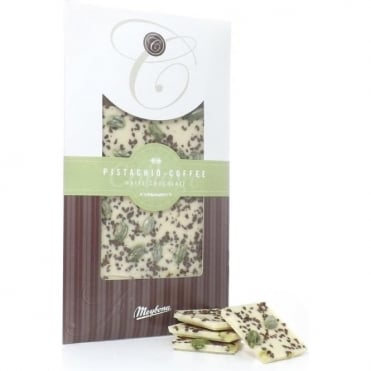 Meybona White Chocolate with Pistachio and Coffee Bar