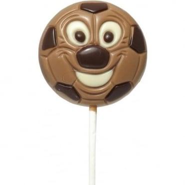 Milk Chocolate Football Lolly