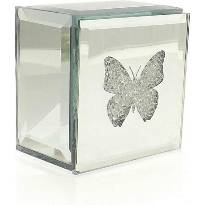 Friars Mirrored Butterfly Trinket Box