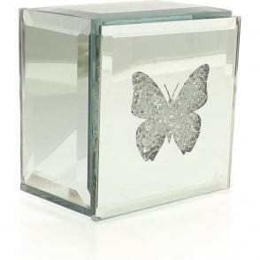 Mirrored Butterfly Trinket Box