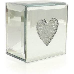 Mirrored Heart Trinket Box
