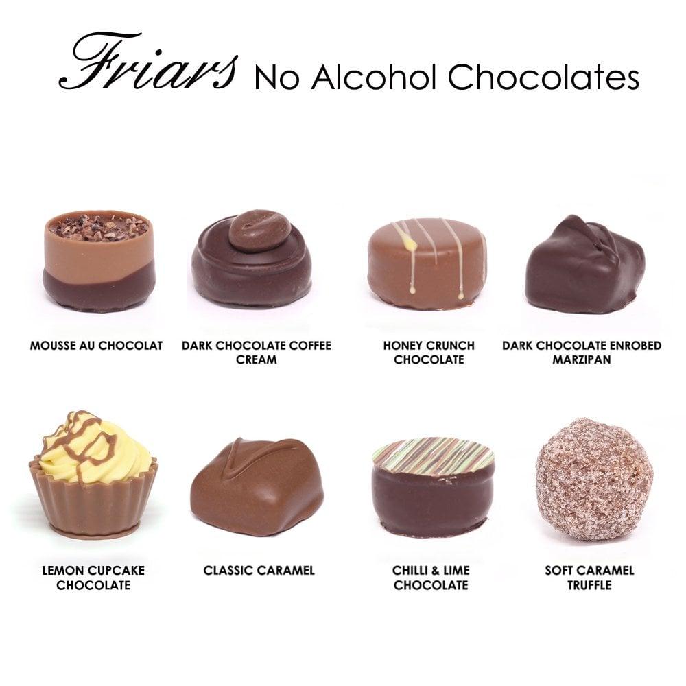 No Alcohol Chocolates - 24 Chocolates