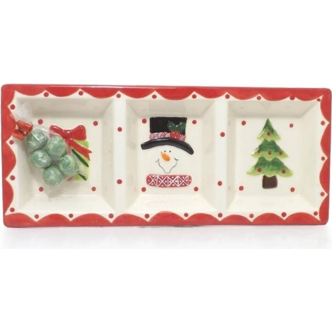 Pottery Chistmas Plate